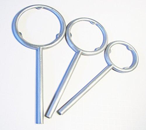 Aluminium Flask Support Rings for Lab Stand Base Set of 3 Rings Inner Diameter 2434