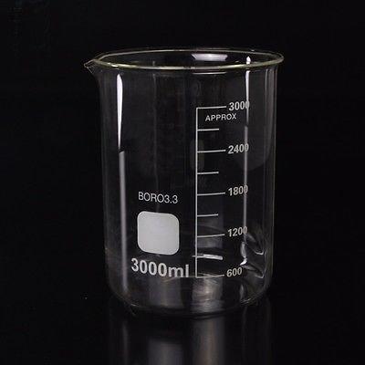 Microyn Borosilicate Glass Beaker 3000ml Capacity