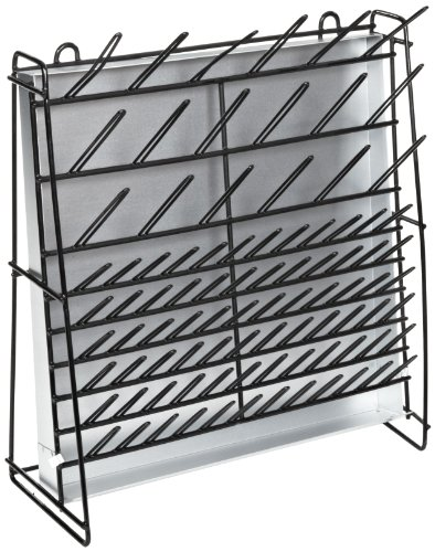 Accurate Wirecraft 901807BK Vinyl Coated Steel Wire Draining and Drying Rack 47cm Length x 18cm Width x 48cm Height Black