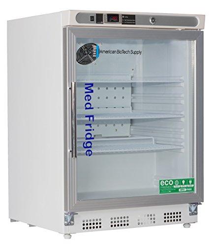 American BioTech Supply PH-ABT-HC-UCBI-0404G-LH Premier PharmacyVaccine Undercounter Refrigerator Freestanding Built-In Glass Door Left Hinged 46 cu ft Capacity White
