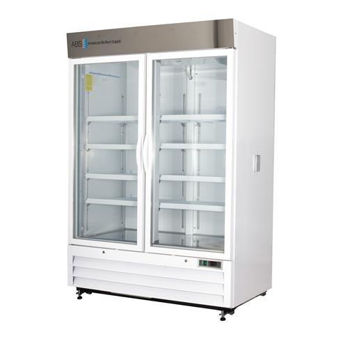 American BioTech Supply ABT-CS-33 Standard Glass Door Chromatography Refrigerator 33 cu ft Capacity White