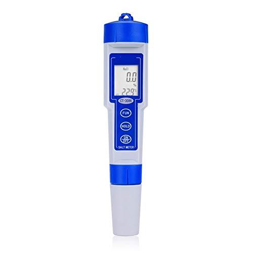 Digital Tester High Performance Original Salt Meter Digital Salinity Tester Pen Type Chemical Pharmaceutical Pool Food Water Quality Tester High Precision Tester Meter