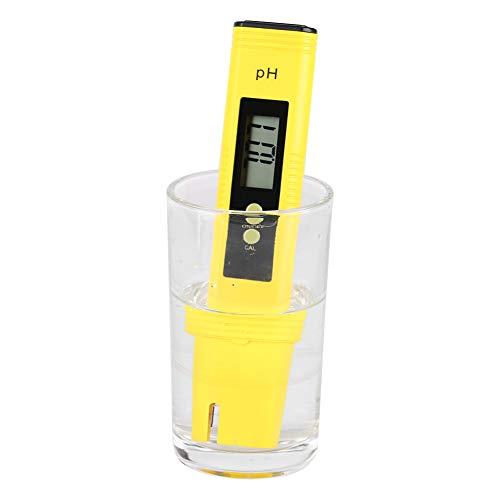 Digital PH Meter Pen 000-1400 Measurement Range Protable LCD PH Tester 001 Resolution PH Meter Aquarium Pool Water Wine Tester Tool Automatic Temperature Calibration