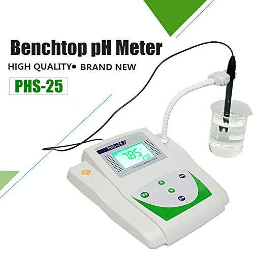 Lab PHS-25 Lab High Precision Digital LCD PH Meter Acidity Tester pH000-1400pH Lab Benchtop pH Met