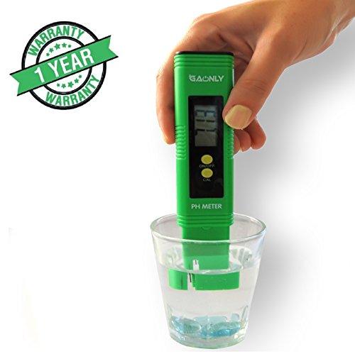 Digital PH MeterPH Tester -Water Pool Fish Tank  Hydroponics Education3 x pH Buffer Powders Automatic CalibrationRange 000-1400 pHATCAuto-shut offGreeting card Green