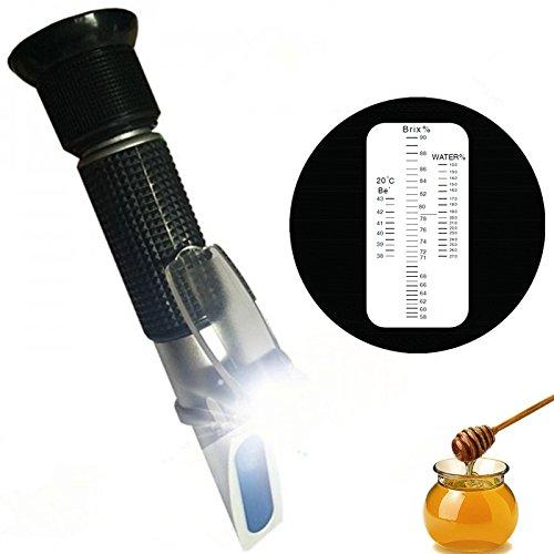 Losco Instrument LED Light Portable Honey Refractometer for Honey Moisture Refractometer 58-90 ATC