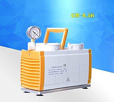 GM-05B Diaphragm Vacuum Pump Anticorrosion Oil Free Vacuum PumpDual Head 30 Lmin