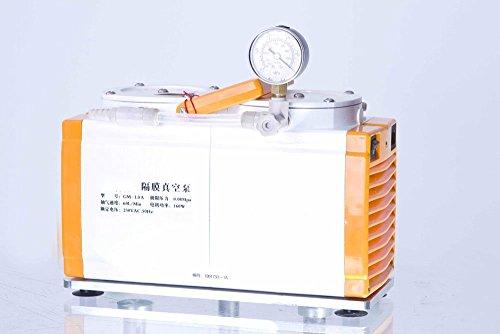 GM-10A Diaphragm Vacuum Pump Anticorrosion Oil Free Vacuum PumpDual Head 60 Lmin