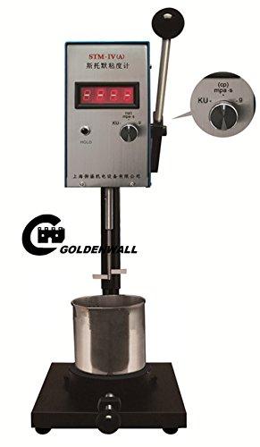 STM-IVA Digital Stormer Viscometer Viscosity Meter Range402KU-1410KU、27-5250cP、32-1099gMPas  Accuracy:±1of full scale
