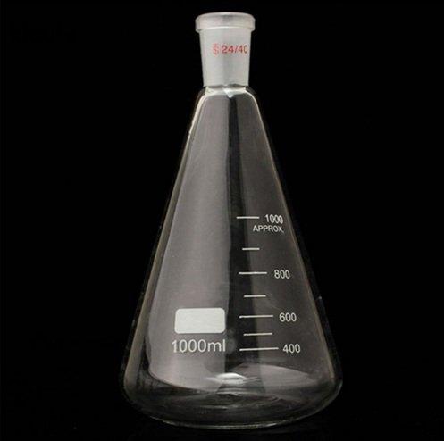 2440 1000ml1L Glass Erlenmeyer Flask Conical Bottle Lab Chemistry Glassware
