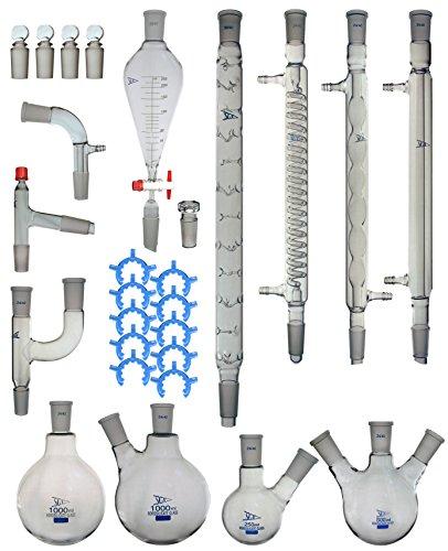 Advanced Organic Chemistry Lab Glassware Kit 2440-30 Pcs - PREMIUM Series