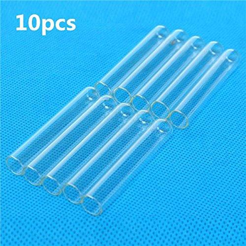 CynKen 10pcs 12x75mm Lab Chemistry Glassware Borosilicate Glass Teaching Test Tubes
