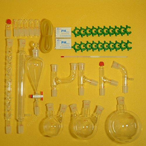 NANSHIN Glasswarelab glassware kitorganic chemistry lab glassware kit 2429 28pcs