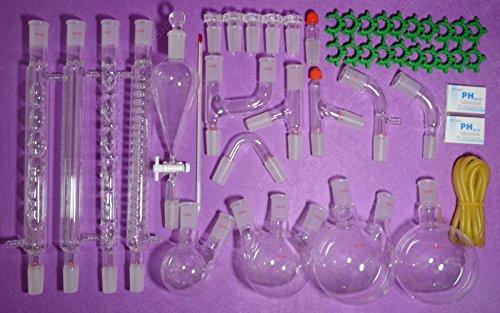 NANSHIN Glassware2440New Organic Chemistry Laboratory Glassware Kit45 PCS