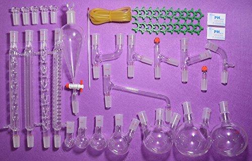 NANSHIN GlasswareTOP Advanced Organic Chemistry Lab Glassware Kit 2440lab glassware kit 2440