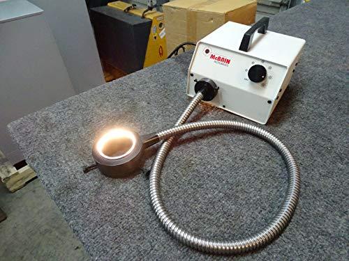 McBain FOI-150 Fiber Optic Illuminator wMicroscope Ring Light
