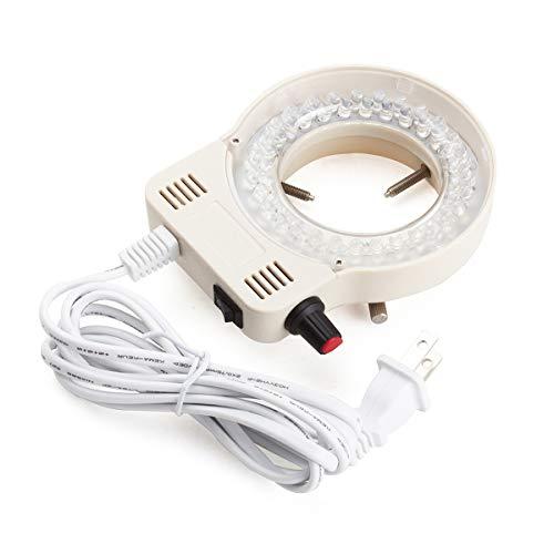 Micrl Microscope Ring Light Adjustable 56 LED Illuminator for Stereo Microscope White