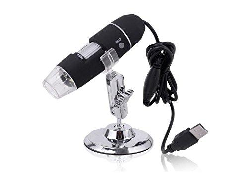 New Portable USB 50X-500X 2MP 8 LEDs Digital Microscope Endoscope Magnifier Camera CMOS Sensor Micro-Scope Lens Silver Color