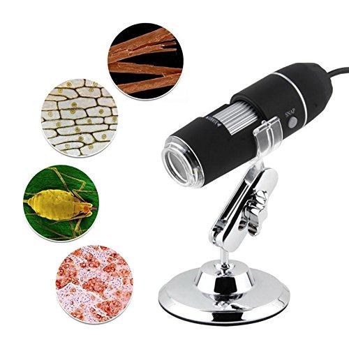 TekDeals 1X-500X Zoom 20MP USB Microscope Endoscope Loupe Camera Video Adjustable Stand