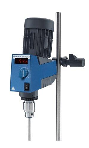 IKA Works 3593001 RW 20 Digital Mechanical Overhead Mixer 602000 RPM Speed 100-115V220-240V 5060 Hz 72 W 35 W x 115625 H x 8875 D