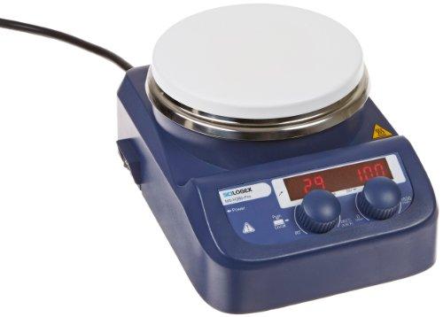 Scilogex 86143101 Model MS-H280-Pro LED Circular-Top Digital Magnetic Hot Plate Stirrer with 53 Diameter Ceramic Coated Plate 110V
