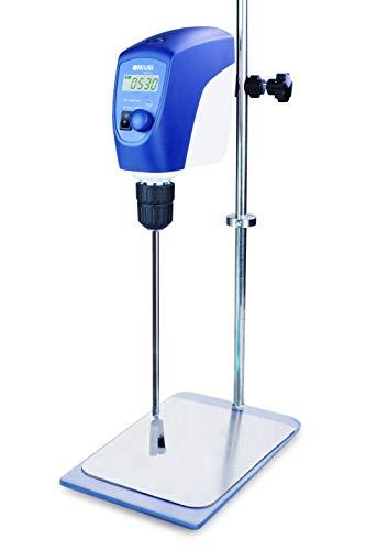 ONiLAB Electric Overhead Stirrer LCD Digital Overhead Stirrer Mixer with Stirring Rod and Stand,,Powerful 20L ,10000 mPas , 50~2200RPM