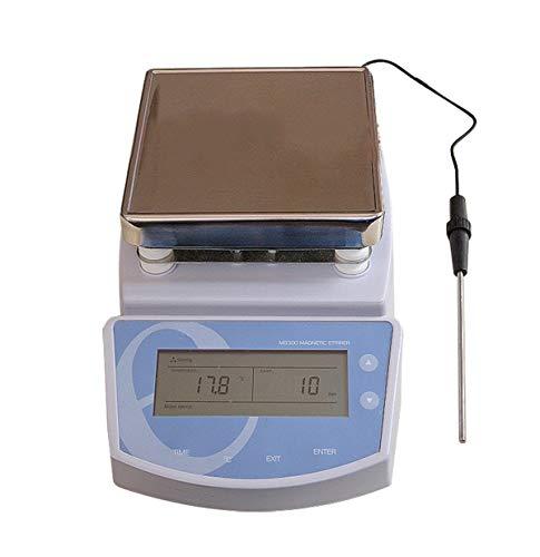 Lab StirrerFencia Digital Hot Plate Magnetic Stirrer Electric Heating Mixer 110V-Max Temperature 300℃-0-1250rpm