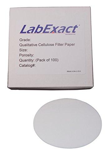 LabExact 1200061 Grade CFP3 Qualitative Cellulose Filter Paper 60µm 185cm Pack of 100