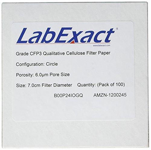 LabExact 1200061 Grade CFP3 Qualitative Cellulose Filter Paper 60µm 70cm Pack of 100