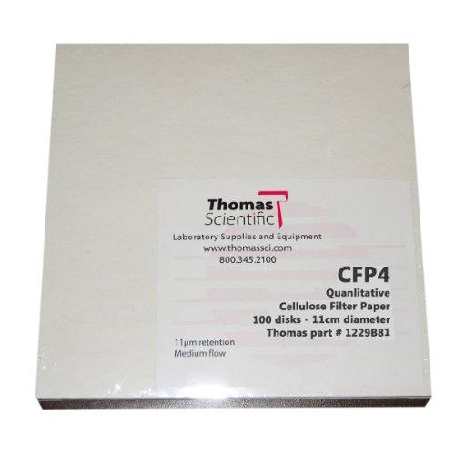Thomas CFP4-150 Cellulose Qualitative Filter Paper 20-26 Micron Fast Flow Grade CFP4 15cm Diameter Pack of 100