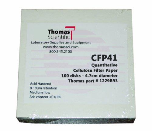 Thomas CFP41-047 Cellulose Quantitative Filter Paper 47cm Diameter 19-26 Micron Fast Flow Grade CFP41 Pack of 100