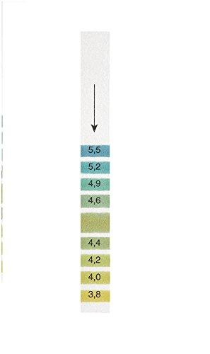 GE Bio-Sciences 2627-990 pH Indicator Strip pH Range 38-55 Integral Comparison 11 mm Width 100 mm Length Pack of 200