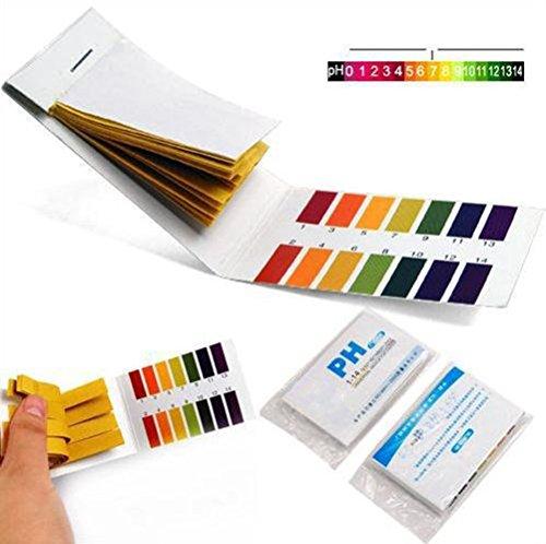 2 Packs Yonger PH 1-14 Test Paper Litmus Strips Tester pH Dip SticksTest Strips for Urine and Saliva 80pcs Per Pack
