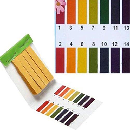 80 Full Range 1-14 pH Test Paper Strips Water Litmus Testing Kits
