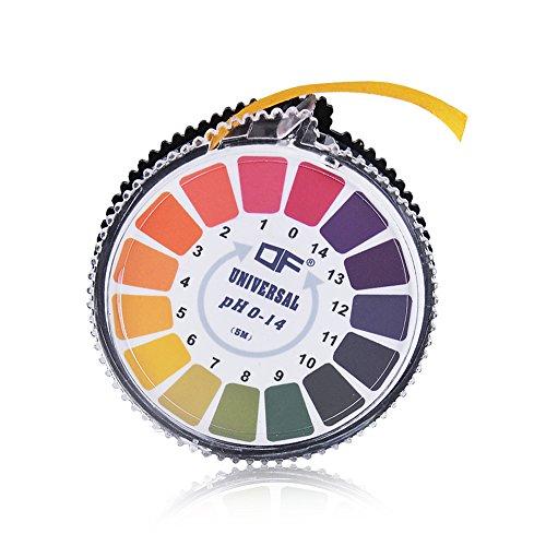 INHDBOX Universal pH test strips Roll Full Range 0-14 Test paper Strip -164ft Roll