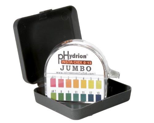 Micro Essential Lab HJ613 Plastic Hydrion Insta-Check pH Test Paper Dispenser 0 - 13 pH Single Roll Jumbo