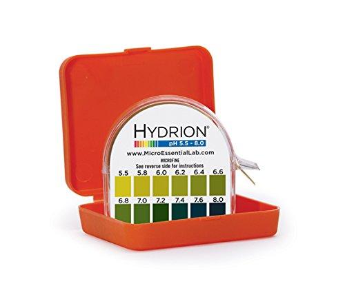 Micro Essential Lab MF-1606 Hydrion Microfine Short Range pH Test Paper Dispenser 55 - 80 pH Double Roll
