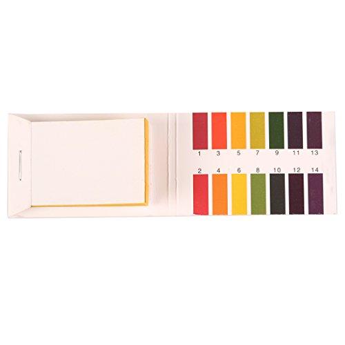 Practical 80 Strips Full Range PH Alkaline Acid 1-14 Test Paper Water Litmus Testing Kit