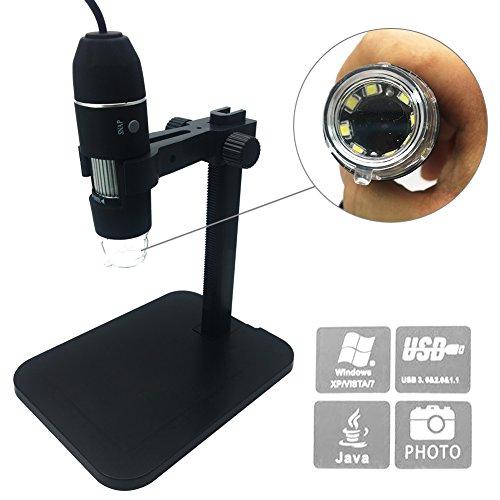 Digital Microscope soled Portable USB Digital Microscope Mini Microscope Camera 8 LED 2MP USB 3D Digital Zoom Microscope Endoscope Magnifier PC Video Camera1000x