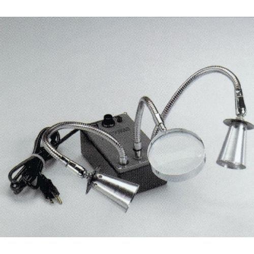 Scientific Instrument 240335 Dynalume Microlite Dual Head Illuminator with Quartz Halogen Combination Beam Bulbs