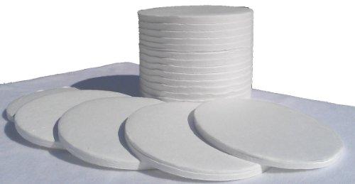 Nevada Weighing™ Brand Glass Fiber Sample Pads for Moisture Balance Analyzers - 90mm - 400 Count Box