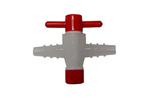 2-Way Polypropylene Stopcock wPTFE Plug