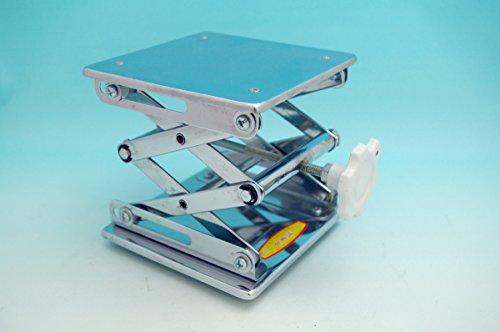 Beyondsupply-lab 304 Stainless Steel Lab Jack 10(25cm)x10(25cm)Scissor Stand lifting table new