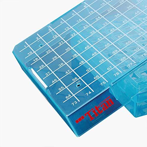 Cryogenic Vials Storage Box Polypropylene Cryogenic Tubes Freezer Box with Lid 81 Positions Case of 5