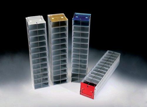 Nunc Aluminum Cryobox Freezer Rack Vertical 12 Compartments Natural