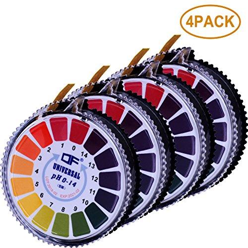 Aboat 4 Rolls pH Test Strips Universal pH Test Paper Strips pH Measure Full Range 0-14 164 ftRoll Totally 656 ft
