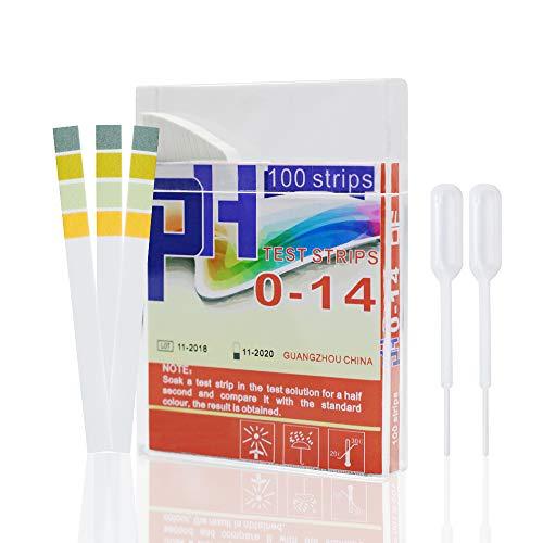PH Test Strips Universal pH 0-14 Acids Bases Test Paper 100 Strips