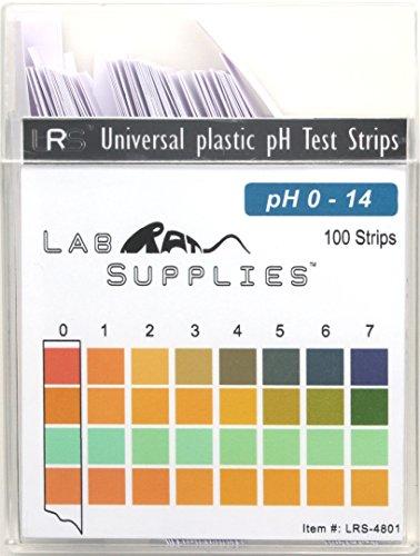 Plastic pH Test Strips Universal Application pH 0-14 100 Strips