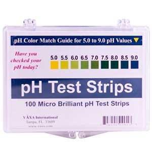 pH Test Strips Vaxa International 100 Box