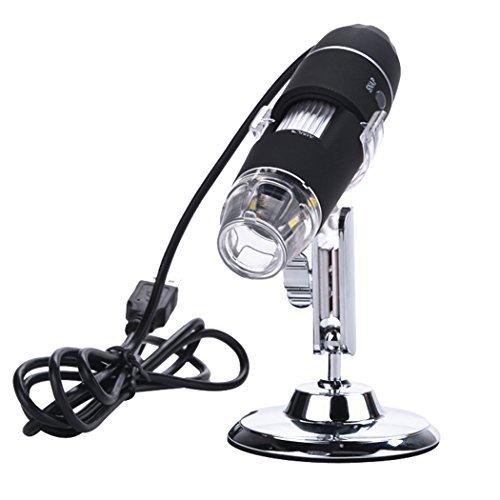 Gracelove 8-LED 2MP USB Digital Microscope Endoscope 20 Mega Pixels Magnifier 100X 200X